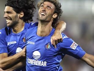 Juan Valera fez o gol de empate do Getafe (Foto: Agência EFE)