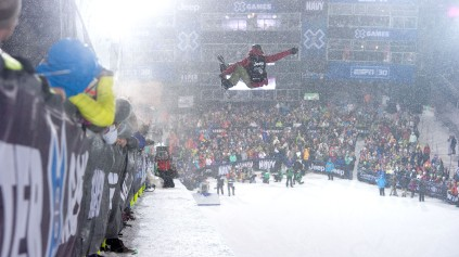 Kelly Clark deu seu máximo na última volta e a recompensa foi a medalha de ouro. (Foto: Mark Kohlman/ESPN)