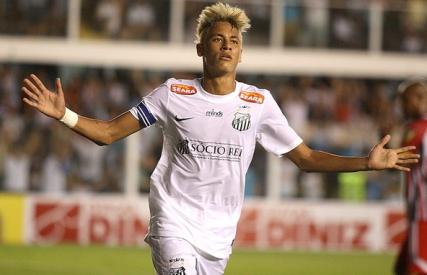 Neymar novamente deu show e ajudou o Santos a vencer. (Foto: Repordução/GloboEsporte)