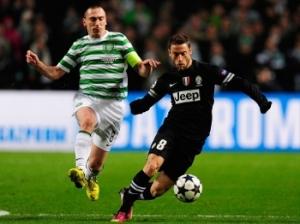 Marchisio participou dos três gols da Juventus em Glasgow (Foto: Getty Images)