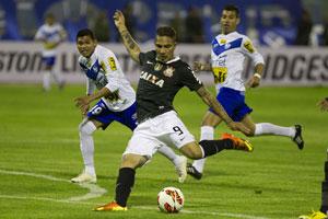 Guerrero marcou seu primeiro gol na Libertadores da América. (Foto: Divulgação/Site Oficial do Corinthians)