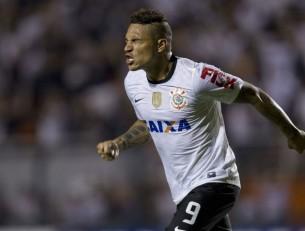 Guerrero comemora mais um gol e é o artilheiro da equipe com três gols na Libertadores. (Foto: Reprodução/Globoesportecom)