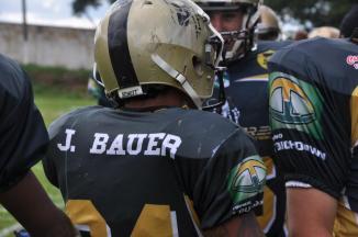 O running-back Bauer é um dos destaques do time. (Foto: Reprodução/Facebook)