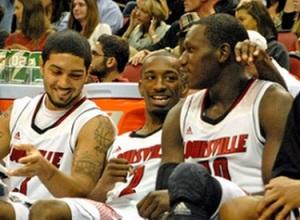 Siva, Smith e Dieng, o trio que comandou Louisville ao Final Four. (Foto: Reprodução/Yahoo! Sports)
