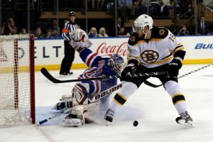 (Lundqvist trabalhou, mas não evitou a derrota da sua equipe. Foto: Divulgação/NHL)