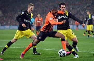 Surpresas na primeira fase, Borussia e Shakhtar foram adversários nas oitavas (Foto: AFP)