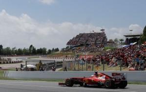 Na sua casa na F1, Alonso foi o melhor (Foto: AP)