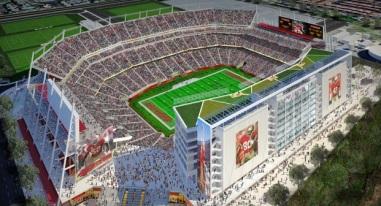 O projeto de como ficará o Levi's Stadium. (Foto: Divulgação/49ers)
