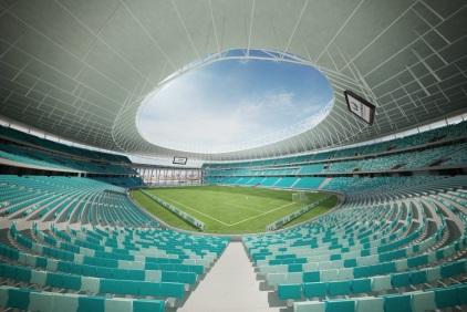 O novo estádio (Foto: Fonte Nova)