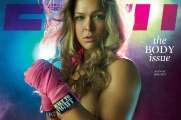 (Rousey também estampou a capa da revista ESPN. Foto: Divulgação/ESPN)