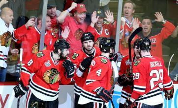 (Hawks começam a decisão com vitória. Foto: Divulgação/NHL)