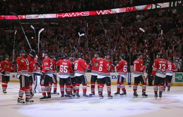 (Durante a fase de classificação para os playoffs, os Hawks foram praticamente imbatíveis. Foto: Divulgação/NHL)