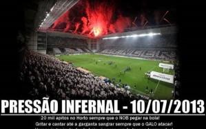 Campanha da torcida do Atlético promete muito barulho no Horto (Foto: Reprodução Globoesporte.com)