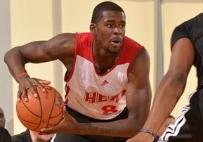 James Ennis foi o cestinha do Miami Heat no clássico. (Foto: Divulgação/Heat)