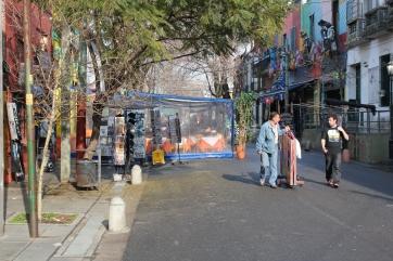 A rua do Caminito faz parte da essência da história do Boca. ( Fotos : Marcio Kaviski )