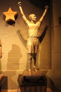 Palermo é um dos ídolos eternizados na Bombonera.