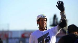 Bob machucou o nariz em queda, mas levou o bronze em Los Angeles (Foto: Lance Dawes/X Games)