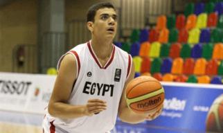 Assem Marei liderou o Egito na vitória. (Foto: Divulgação/FIBA)