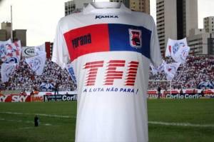 (Torcida Fúria Independente estampará sua logo na camisa no Paraná nos próximos dois jogos/Foto: Divulgação Paraná Clube)