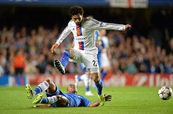 Mohamed Salah fez o segundo gol que deu a vitória para o Basel (Foto: Andy Müller/freshfocus)