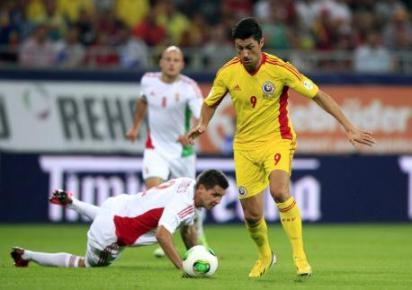 Marica fez um dos gols da Romênia (Foto: Action Images)