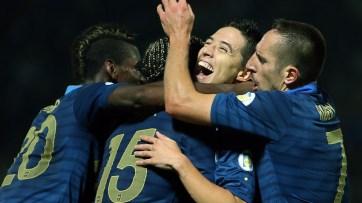 Os franceses golearam os bielorussos por 4x2 (Foto: Franck Fife/AFP Photo)