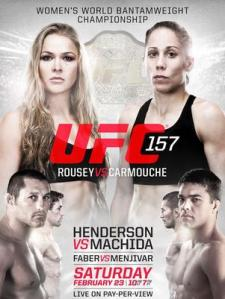 Primeira luta feminina aconteceu no UFC 157 ( Poster divulgação do evento)