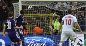 Ibra fez quatro gols contra o Anderlecht (Foto: Getty Images)