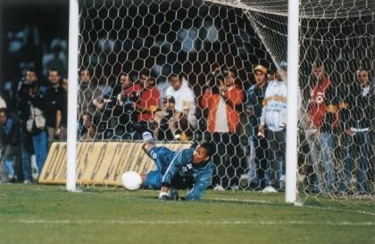 Dida com a camisa do Corinthinas na semifinal do Brasileirão de 1999, ele defendeu o pênalti cobrado por Raí. (Foto: Divulgação/Site Oficial do SCCP)