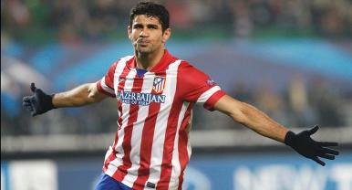 Diego Costa foi destaque mais uma vez e marcou dois gols na vitória do Atlético de Madrid (Foto: Reuters)
