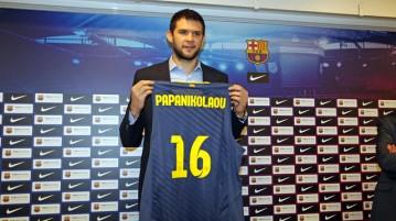 O grego Kostas Papanikolaou é novidade no Barcelona. (Foto: Divulgação/Barcelona)