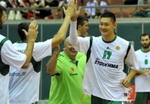 O chinês Shang Ping é novidade no Panathinaikos. (Foto: O-Sports)