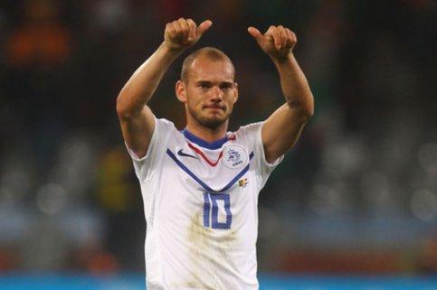 Sneijder marcou um dos gols da Laranja (Foto: Lars Baron)