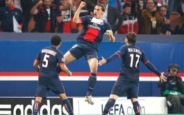 Ibra marcou duas vezes e foi o destaque da vitória do PSG (Foto: Reuters)
