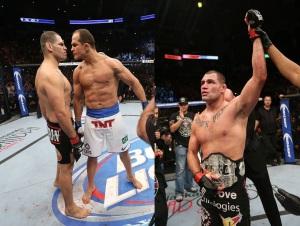 (A encarada de cigano foi quente, porém a luta esfriou e Cain segue com a cinta. Foto: Divulgação/UFC)