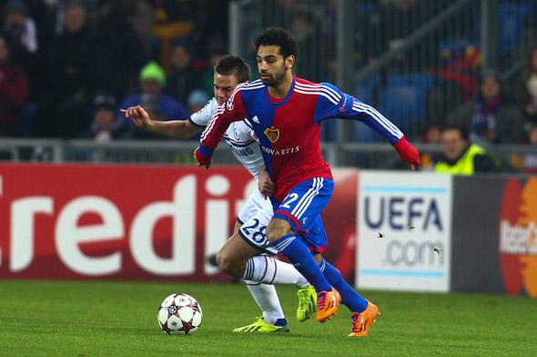 Salah foi o grande nome do jogo, marcando o gol da vitória do Basel (Foto: Site oficial do Basel)