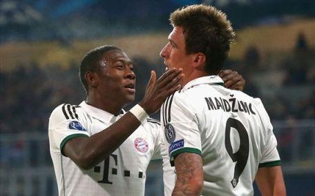 Mandzukic garantiu a vitória do Bayern de Munique (Fotos: Getty Image)