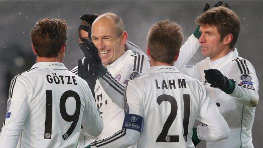 Robben marcou o primeiro na vitória do Bayern sobre o CSKA (Foto: site oficial do Bayern de Munique)