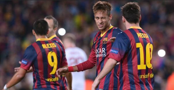 Messi e Neymar tiveram boas atuações contra o Milan (AP Photo/Manu Fernandez)