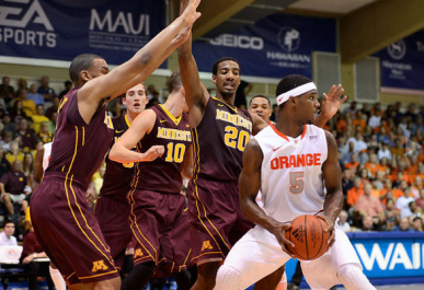 Syracuse, de C.J. Fair (dir.), derrotou Minnesota sem problemas. (Foto: The Post-Standart)