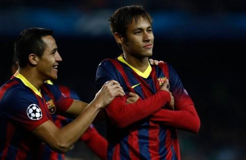 Neymar, que estava sem marcar nenhuma vez na UCL, anotou um hat-trick de uma vez (Foto: AFP)